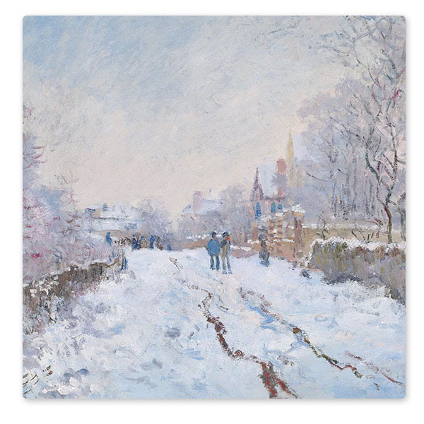 Detail from Claude Monet, 'Snow Scene at Argenteuil', 1875 © The National Gallery, London