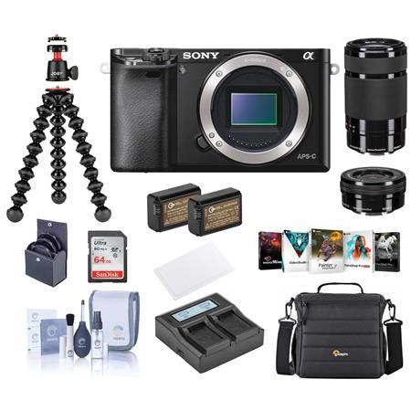 Alpha A6000 Mirrorless Camera with 16-50mm f/3.5-5.6 OSS & 55-210mm f/4.5-6.3 OSS Lenses,