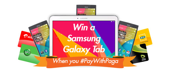 win a Samsung Galaxy Tab, Solo Phones or loads of airtime; when you perform at least 2 transactions every month between now and December as long as each transaction is over N500.