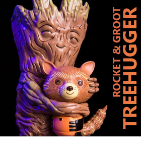 ROCKET & GROOT TREEHUGGER VINYL FIGURE