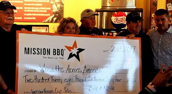 MISSION BBQ donates over $200k to Wreaths Across America