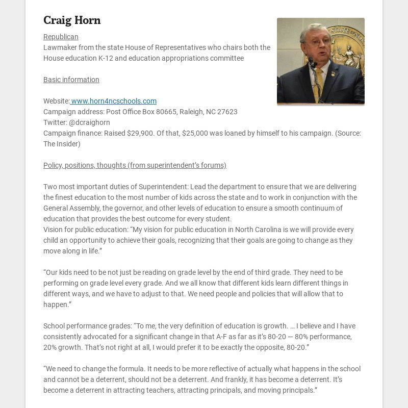 Craig Horn Republican Lawmaker from the state House of Representatives who chairs both the House...