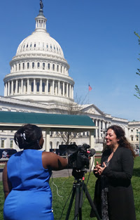 Steph Sherer at the U.S. Capitol