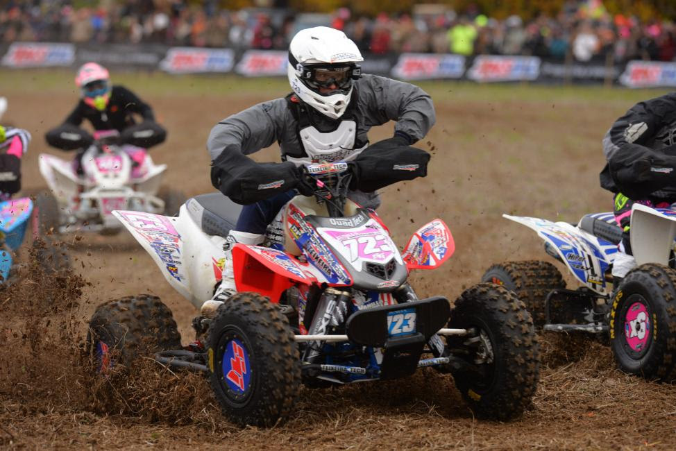 A mechanical issue took Angel Knox out of contention for the title on the first lap.