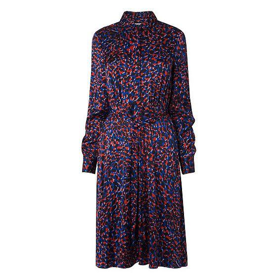 Bertie Blue Leopard Print Dress