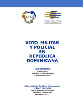 Voto Militar y Policial en Republica Dominicana M