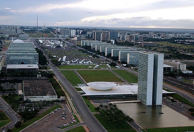 Vista del Congreso Nacional y de la Explanada de los Ministerio, en Brasilia (DF)  - Créditos: Archivo/Agência Brasil