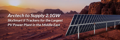 Arctech was selected to supply 2.1GW SkySmart II trackers for the largest PV power plant in the Middle East.