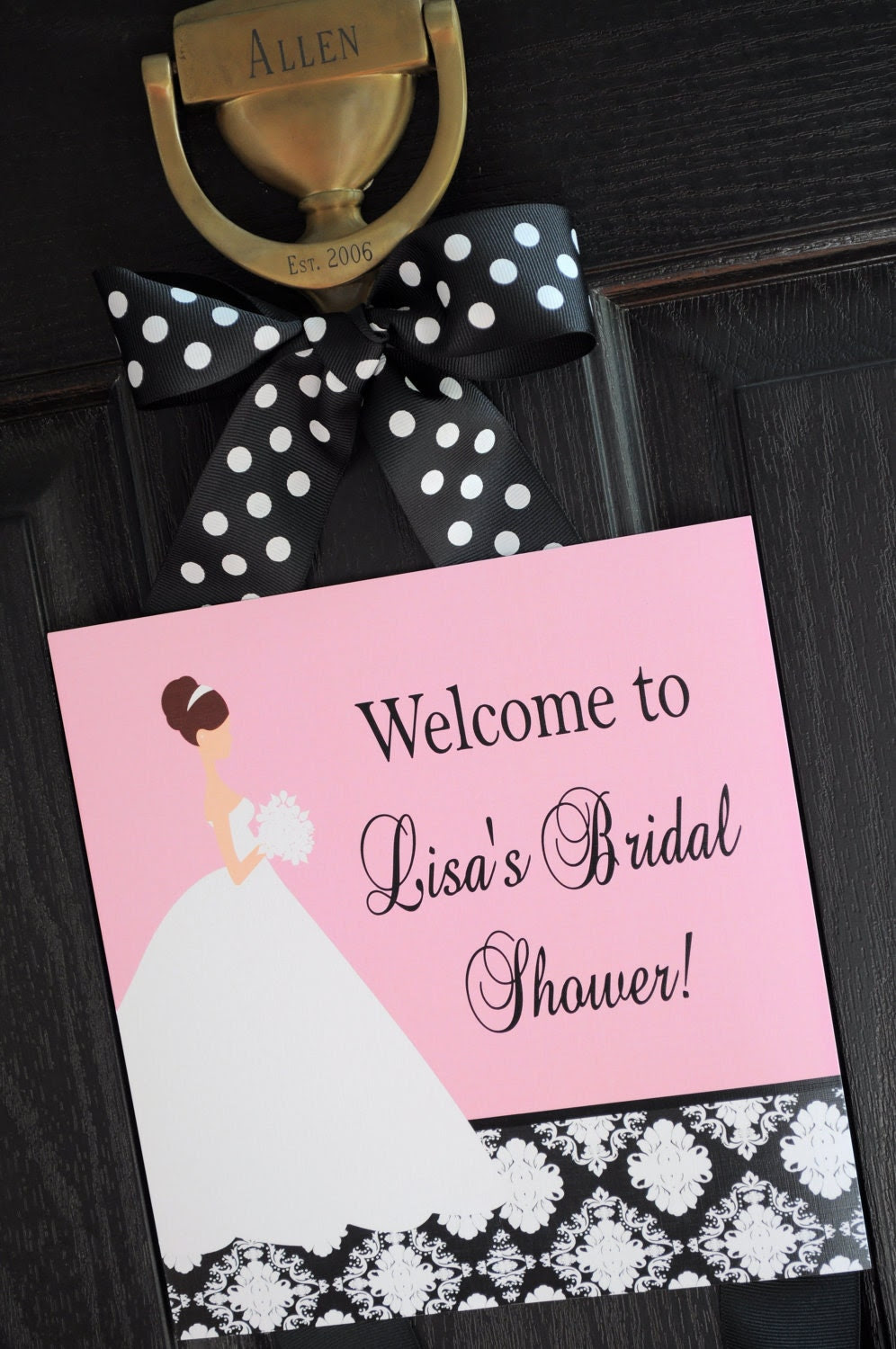 Damask Bride Collection: Printable Welcome Sign
