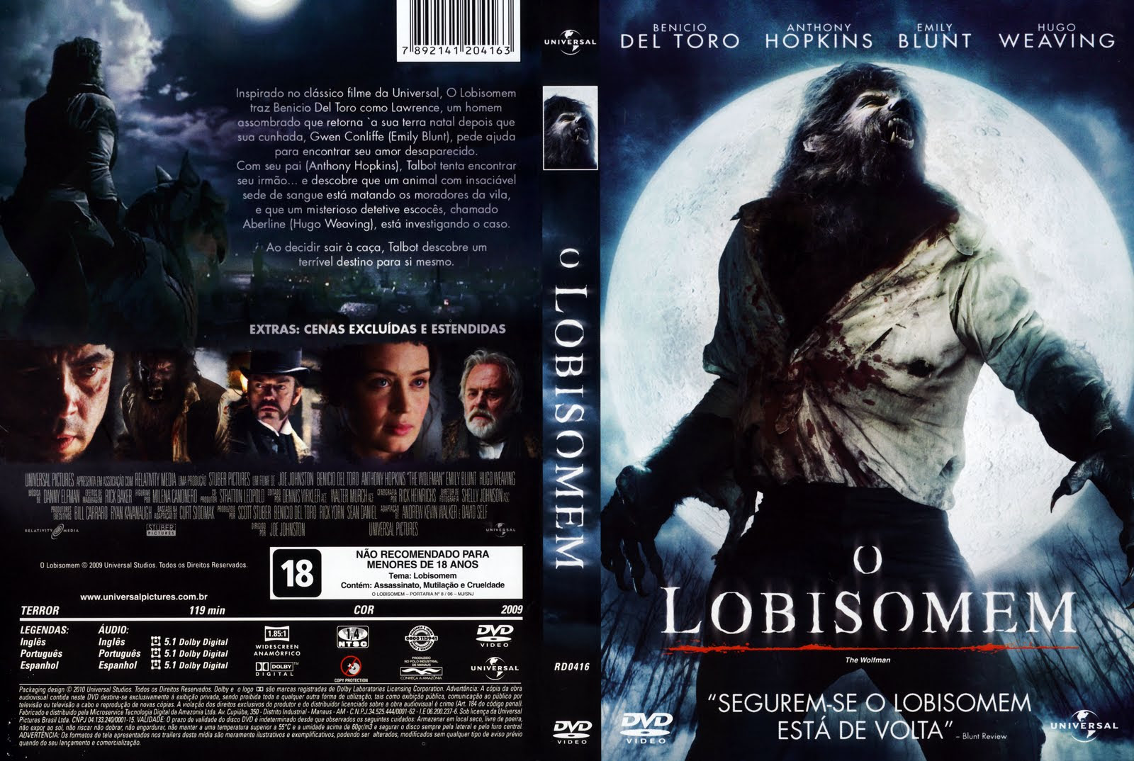XZylXBR O Lobisomem Torrent   DVDRip Dual Audio (2010)