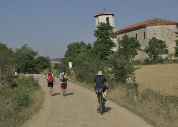 Cyclists on the Camino