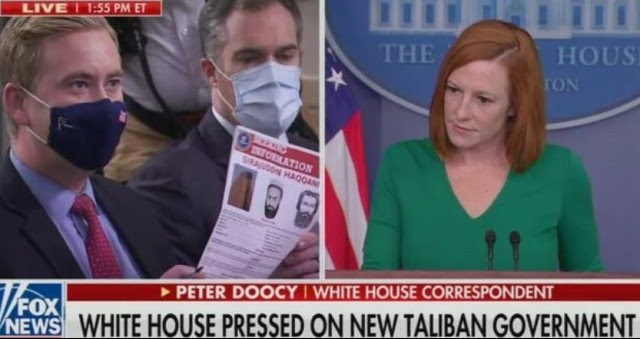 """BOOM! Watch As Doocy DRAGS Biden Hack Psaki Across The Floor On Taliban- """"Their Interior Minister Has A FBI Wanted Poster. He's Got…"""