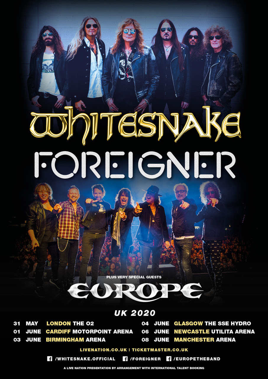 Whitesnake | Foreigner | Europe U.K. Tour 2020