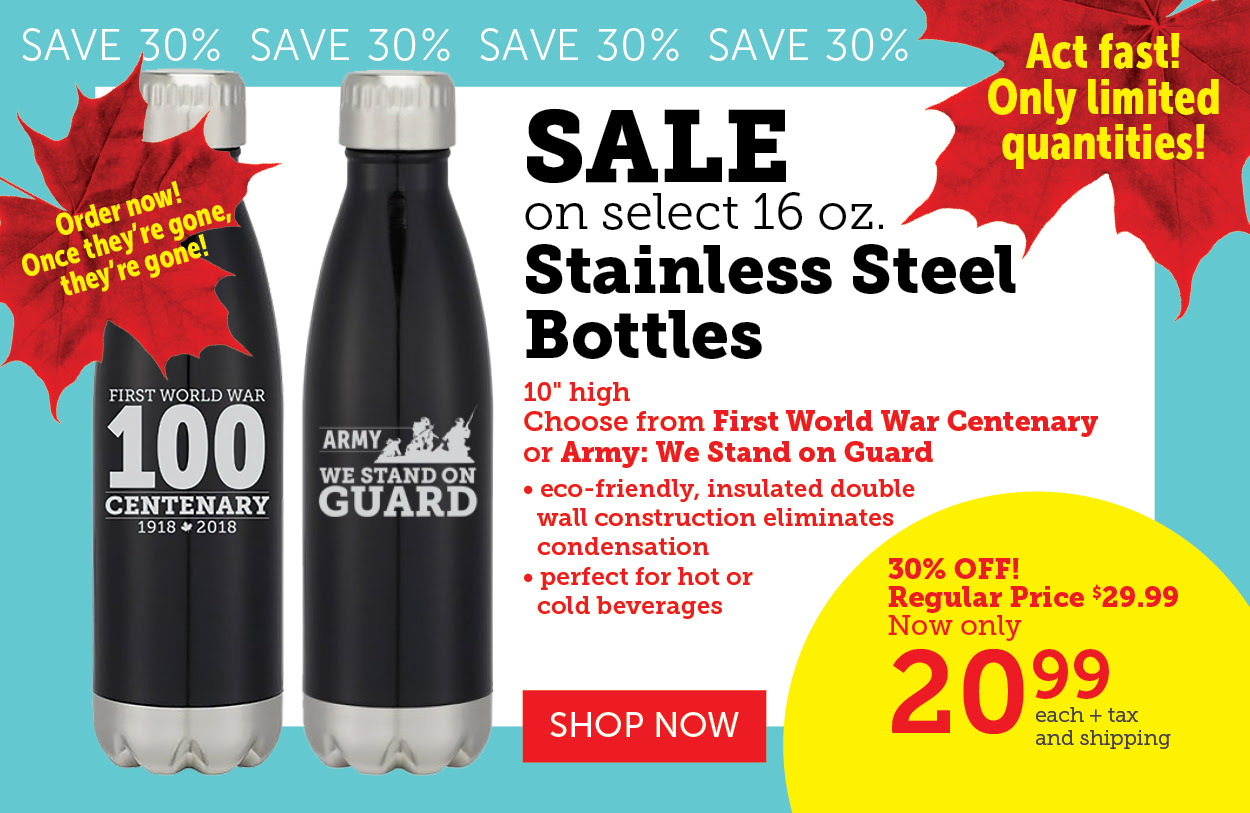 SALE - STAINLESS STEEL WATER BOTTLES