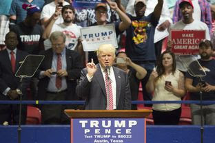 Republican Presidential nominee Donald Trump gives speech during an August 23, 2016 rally in Austin, Texas