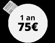 Abonnement 1 an 75€ au lieu de 132€