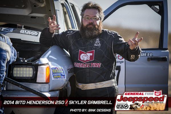 Skyler Gambrell, General Tire, Jeepspeed, Henderson 250, Bink Designs