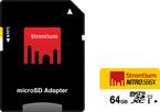 STRONTIUM 64GB MICRO SD CARD (CLASS 10)