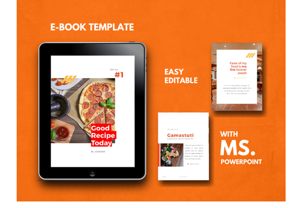 Free Recipes eBook PowerPoint Template download