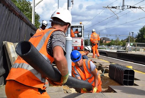 Passengers thanked as railway reopens on time after upgrade work