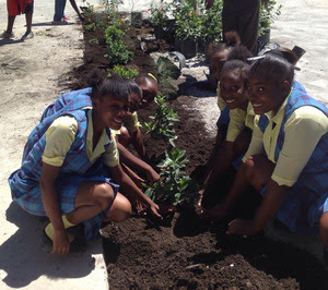 students planting Oct 2018_4