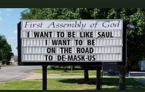 Fake Church Sign