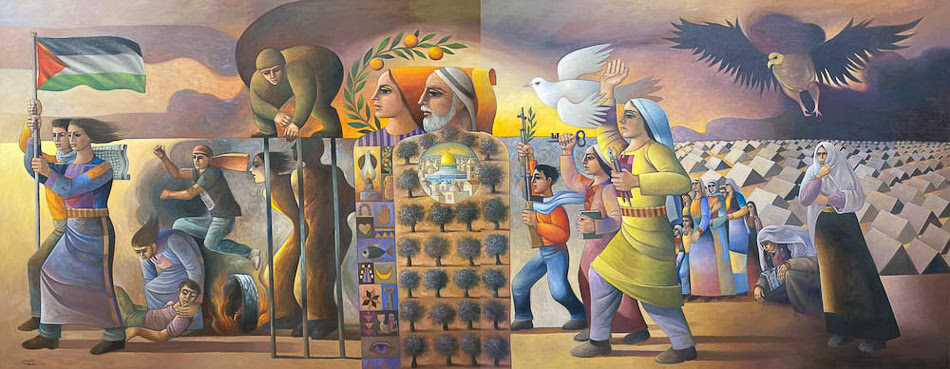 Sliman Mansour (Palestine), Revolution Was the Beginning, 2016.