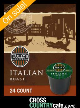 Tully's Italian Roast Extra Bold Keurig K-cup coffee