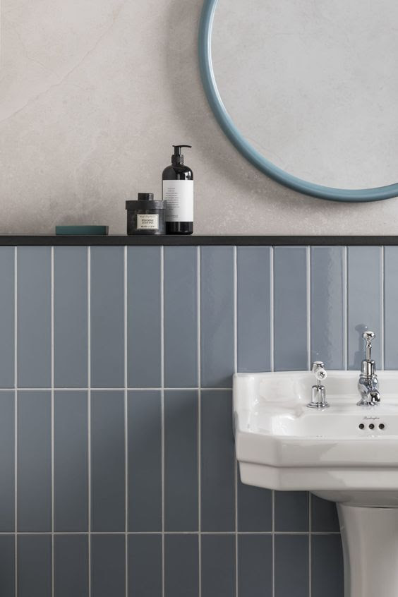 Norse Blue Gloss Ceramic Tiles | Mandarin Stone