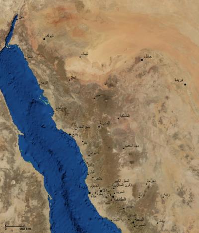 الحجاز هي في الأصل سلسلة جبال السروات Mazen