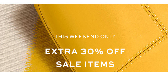 THIS WEEKEND ONLY EXTRA 30% OFF SALE ITEM
