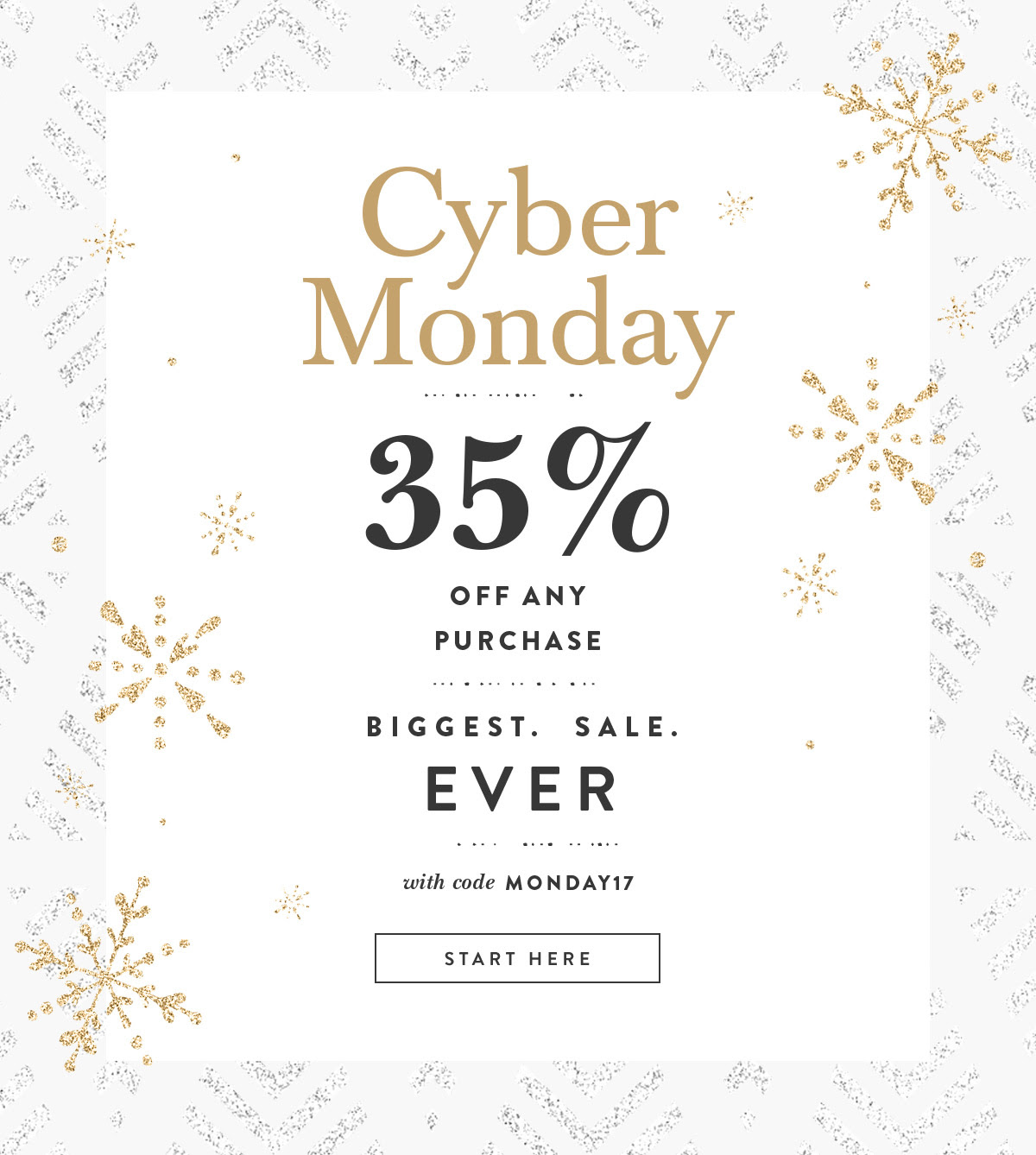 Cyber Monday Sale Launch Sitewide Sale