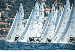 J/70s sailing Alcatel OneTouch Italian Nationals off San Remo, Italy