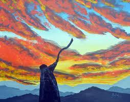 Shofar painting