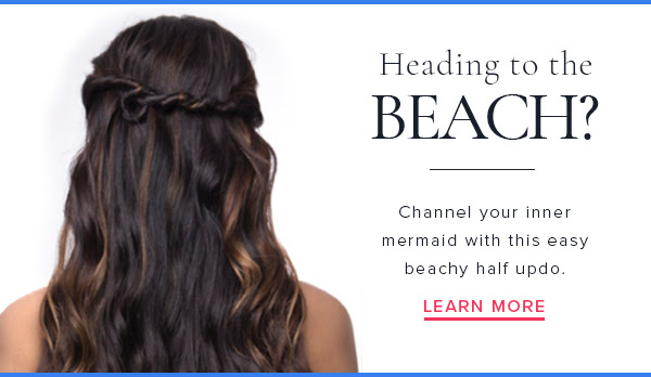 Heading to the Beach? Channel your inner mermaid with this easy beachy half updo. Learn more!