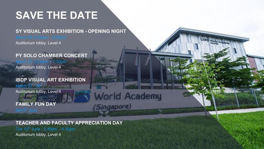 GEMS (Singapore) Events Calendar