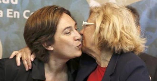 Las alcaldesas de Barcelona y Madrid, Ada Colau y Manuela Carmena, respectivamente, en una imagen de archivo. EFE