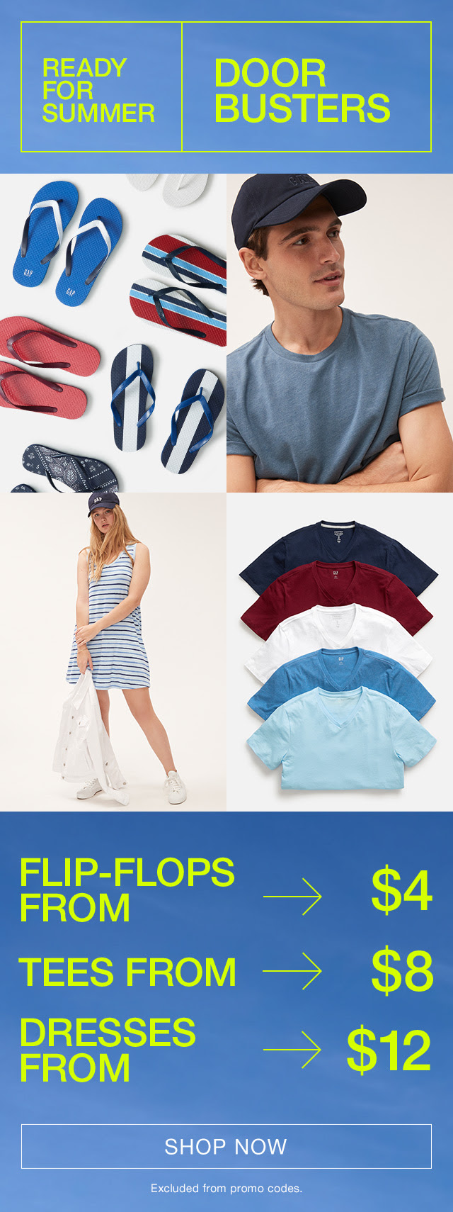GAP: Memorial Day Sale 50-70% off on everything