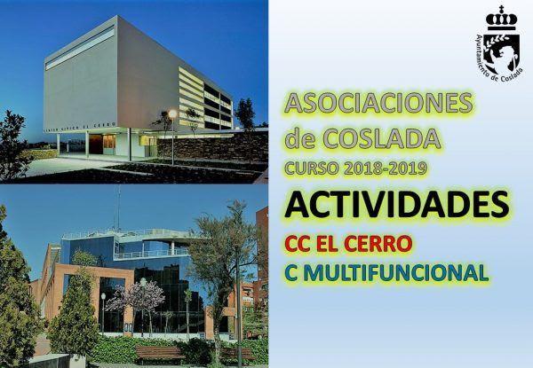 actividades de ASOCIACIONES de COSLADA CURSO 2018/19