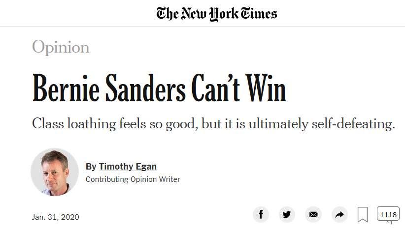 anti Bernie NYT clip