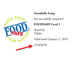 foodsafe wallet-card