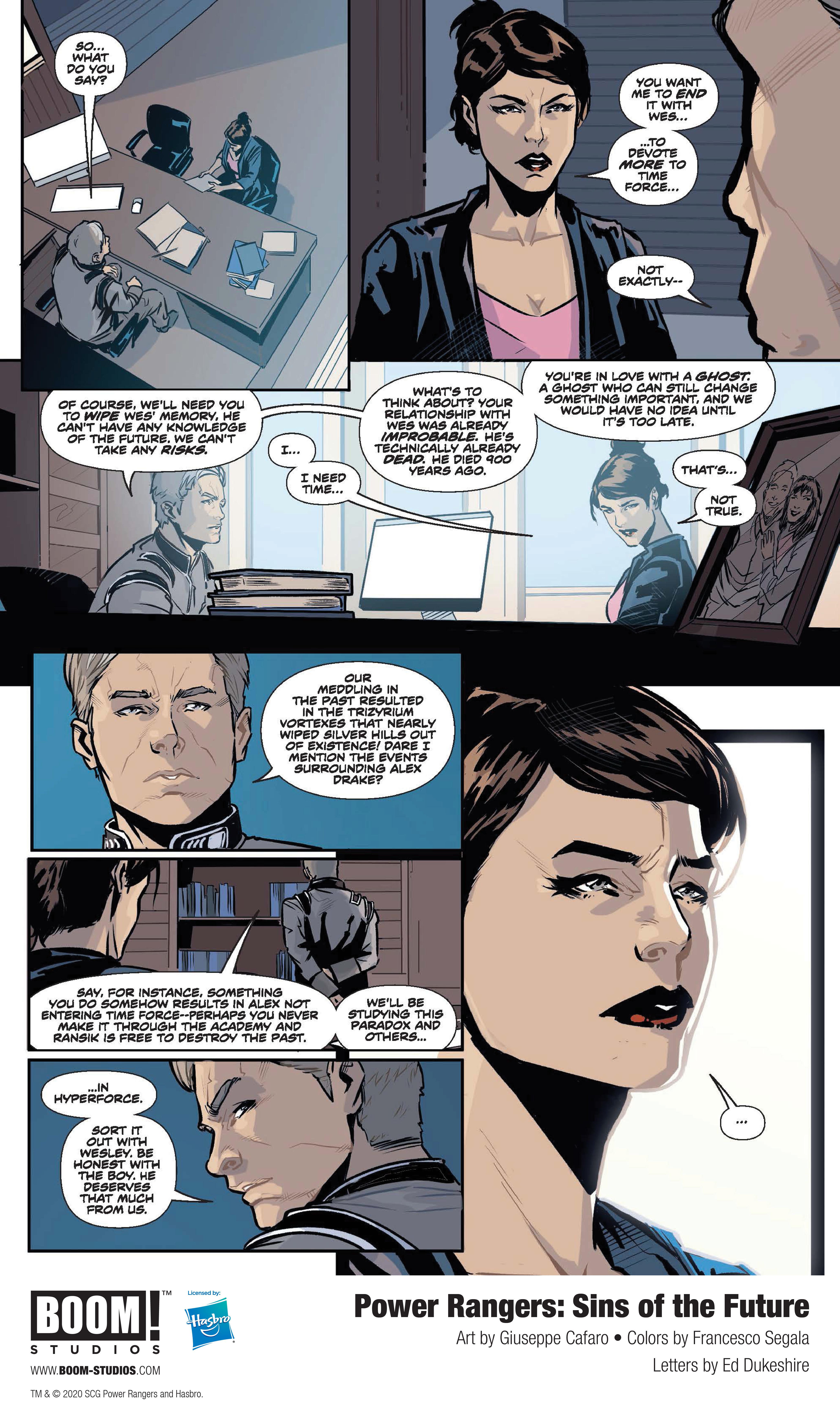 Power Rangers: Sins of the Future Sneak Peek Mentions HyperForce - The Illuminerdi