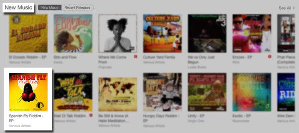 iTunes U.S. Reggae New Music Chart 06-09-2015