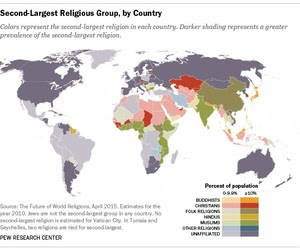 2nd largest religion