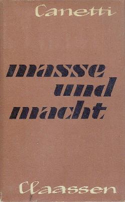 """Primera edición de """"Masa y poder"""", fechada en 1960"""