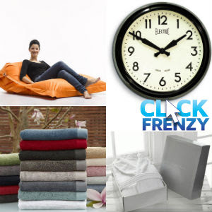 Early bird click frenzy sale up to up to 50% off on over 9,000 designer homeware & gift items at