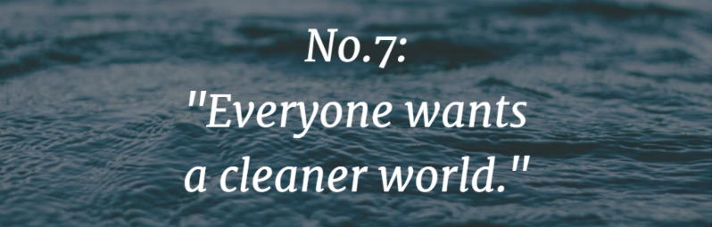 Everyone wants a clearer world.