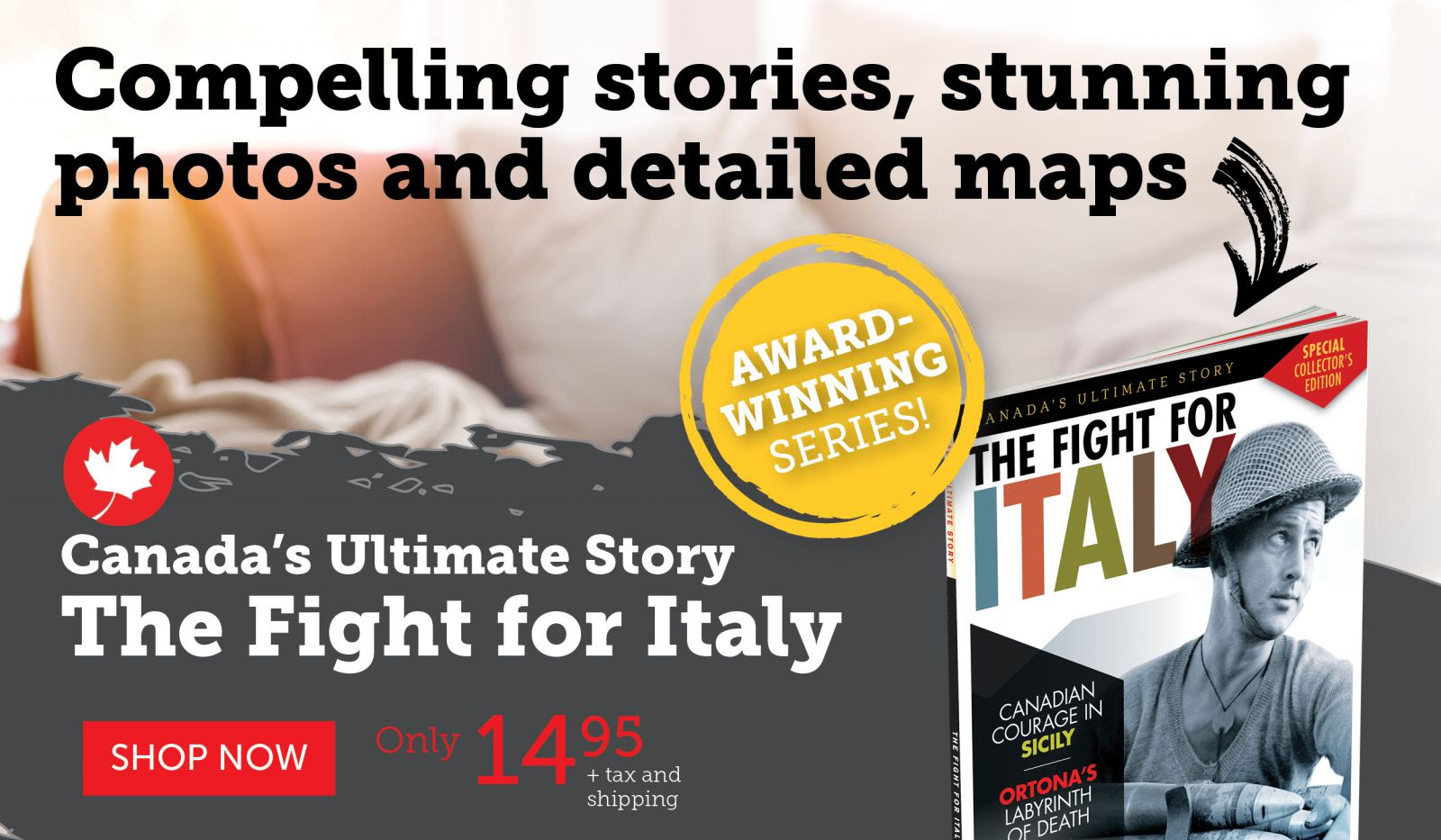 The Fight for Italy only $14.95!