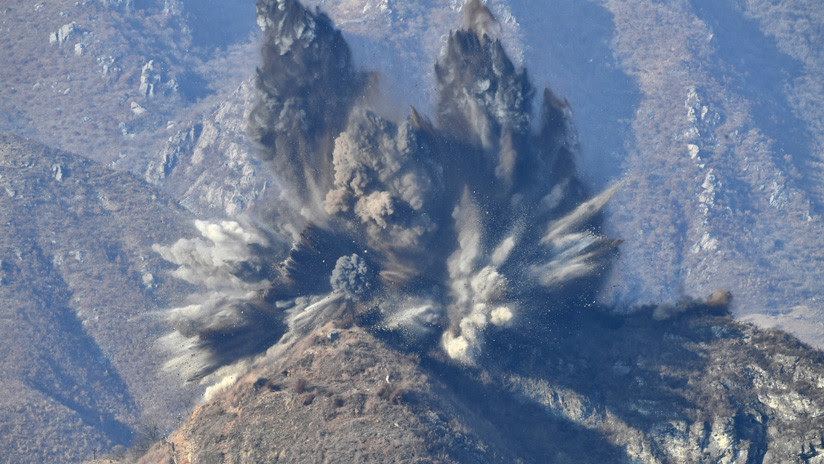 VIDEO, FOTOS: Corea del Norte destruye 10 puestos militares en la frontera intercoreana