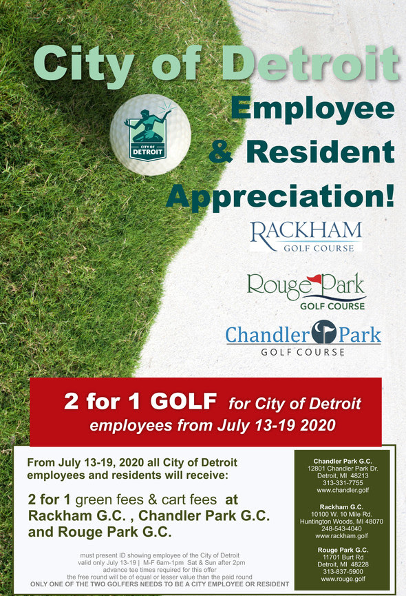 Golf Discounts for Residents and City Employees